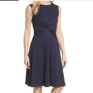 NWT Caslon Navy Twist Front Knit Dress